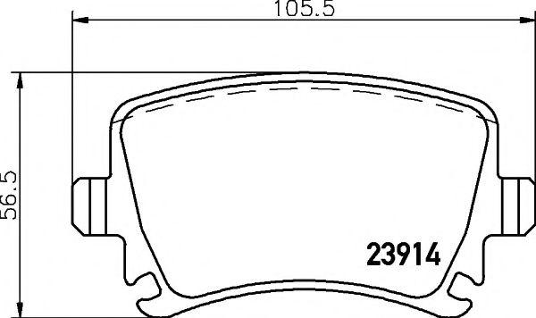 Brake Pads Set GDB1622DTE TRW 4F0698451E 1K0698451 1K0698451F 8E0698451E 23914