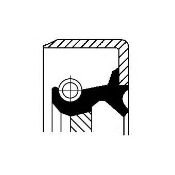 12013365B CORTECO Уплотняющее кольцо, ступенчатая коробка передач; Уплотнительное кольцо вала, приводной вал (масляный насос)