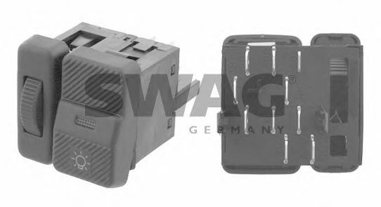 32 92 4786 SWAG Switch, headlight