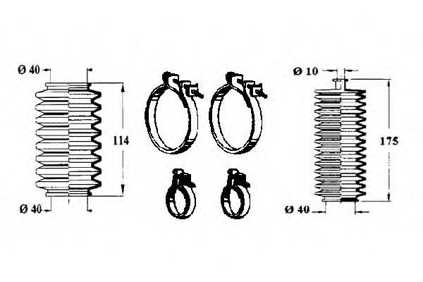 0901546 OCAP Комплект пылника, рулевое управление