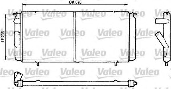 730017 VALEO Радиатор, охлаждение двигателя