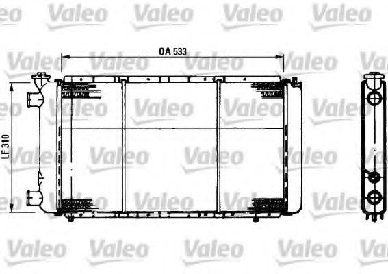 730021 VALEO Радиатор, охлаждение двигателя