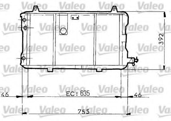 730025 VALEO Радиатор, охлаждение двигателя