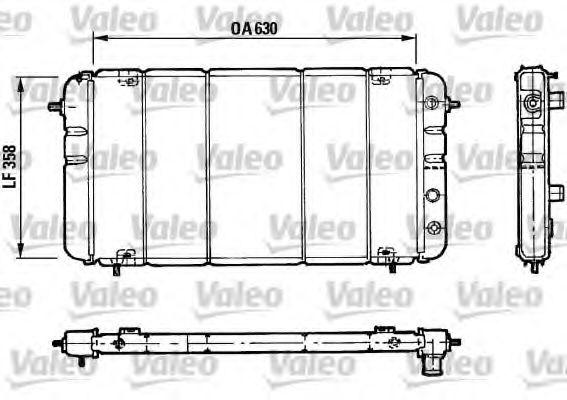 730033 VALEO Радиатор, охлаждение двигателя