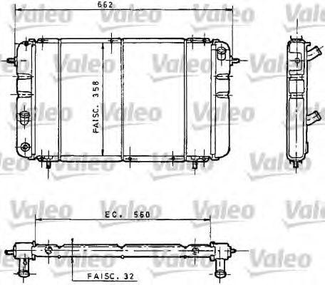 730034 VALEO Радиатор, охлаждение двигателя