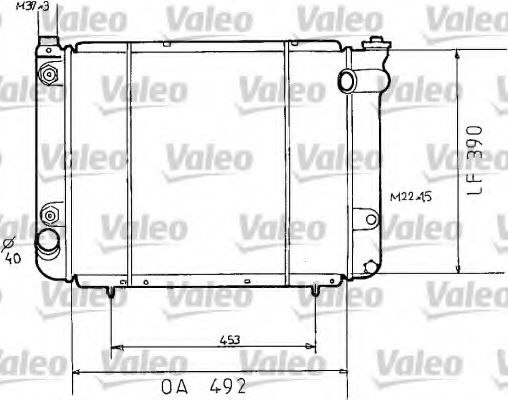 730038 VALEO Радиатор, охлаждение двигателя