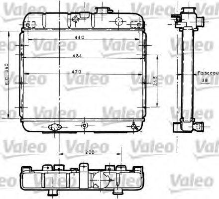 730061 VALEO Радиатор, охлаждение двигателя
