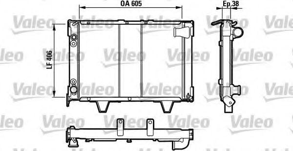 730066 VALEO Радиатор, охлаждение двигателя