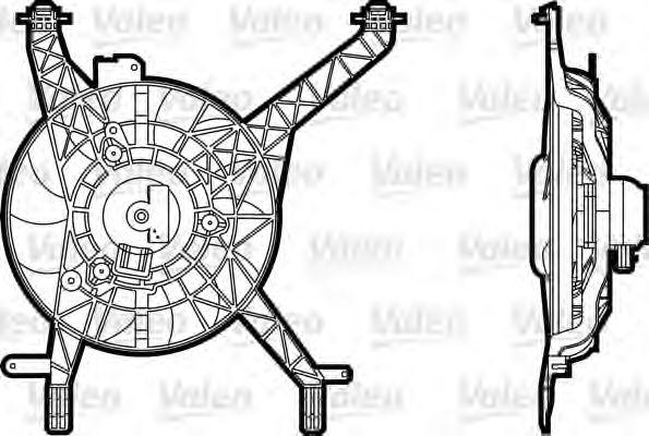 696345 VALEO Вентилятор, охлаждение двигателя