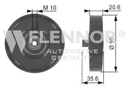 FU22996 FLENNOR Паразитный / ведущий ролик, поликлиновой ремень