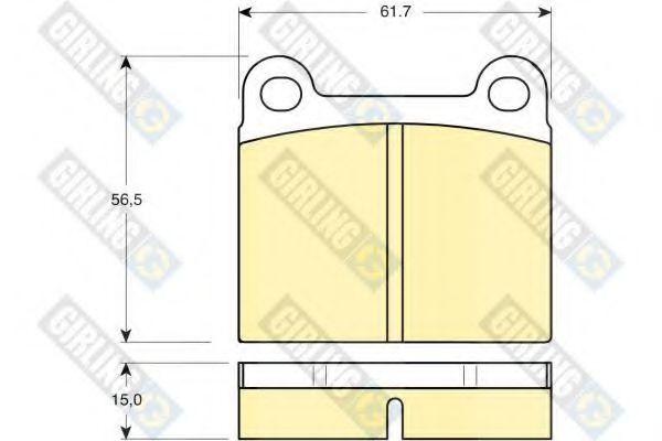 Scheibenbremse FERODO FDB979 Bremsbelagsatz