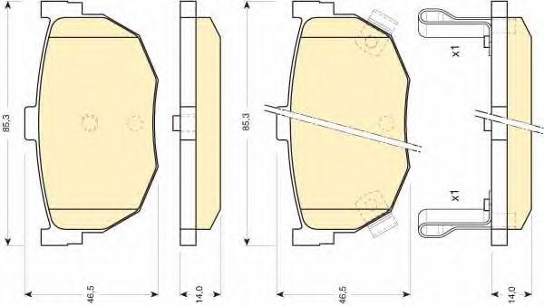 6110109 GIRLING Комплект тормозных колодок, дисковый тормоз