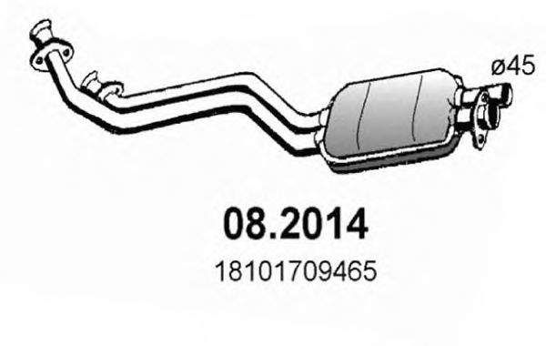 082014 ASSO Предглушитель выхлопных газов