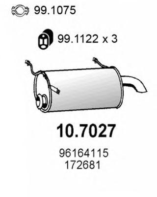 10.7027 ASSO Глушитель выхлопных газов конечный