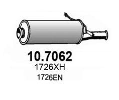 10.7062 ASSO Глушитель выхлопных газов конечный