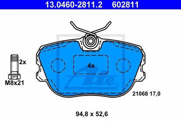 13.0460-2811.2 ATE Brake Pad Set, disc brake