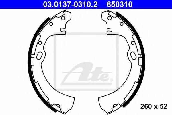 03.01370310.2 ATE Brake Shoe Set