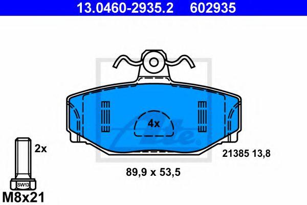 13.0460-2935.2 ATE Brake Pad Set, disc brake