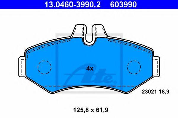 13.0460-3990.2 ATE Brake Pad Set, disc brake