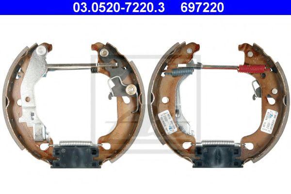 03.0520-7220.3 ATE Brake Shoe Set