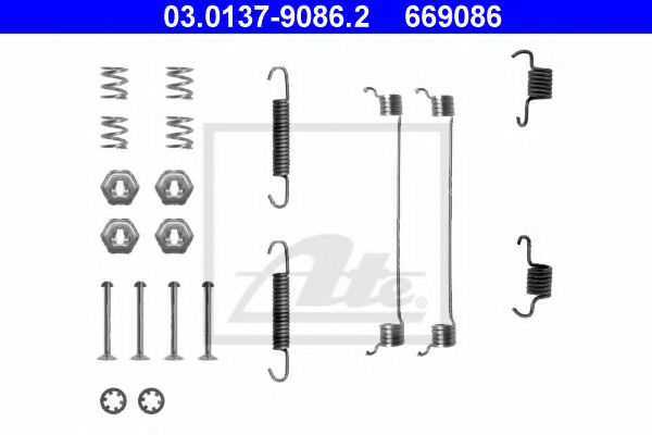 03013790862 ATE Accessory Kit, brake shoes