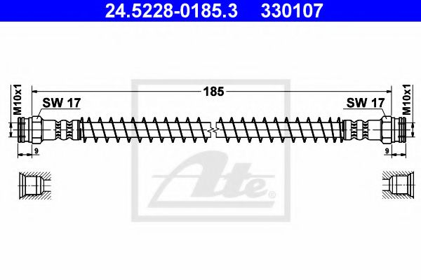 24522801853 ATE Brake Hose