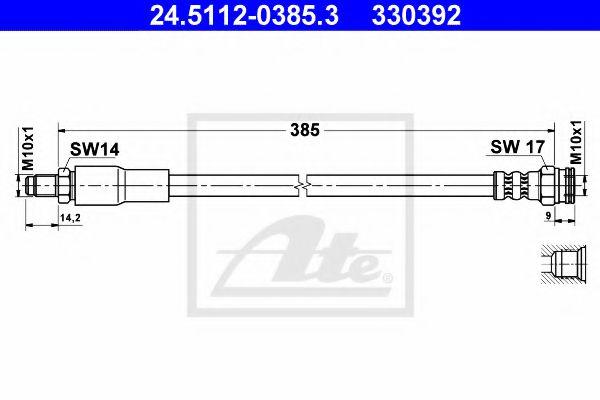 24511203853 ATE Brake Hose