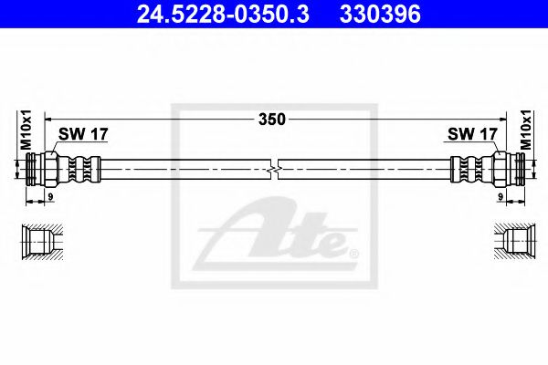 24522803503 ATE Brake Hose