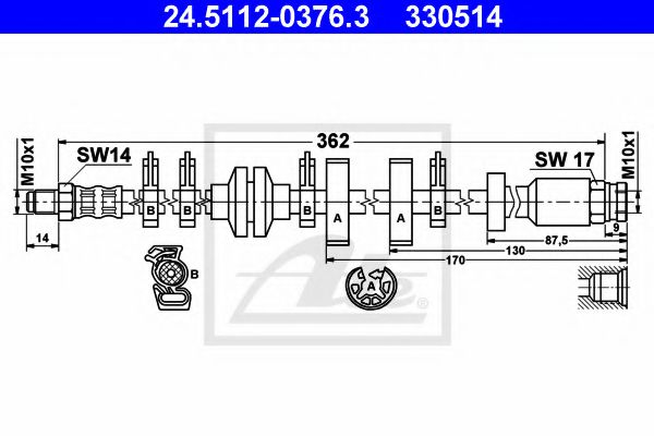 24511203763 ATE Brake Hose