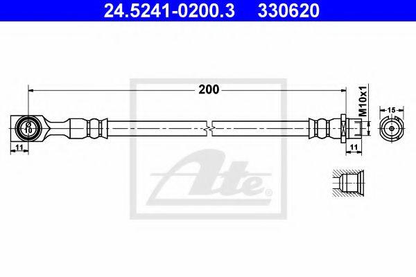 24.5241-0200.3 ATE Brake Hose