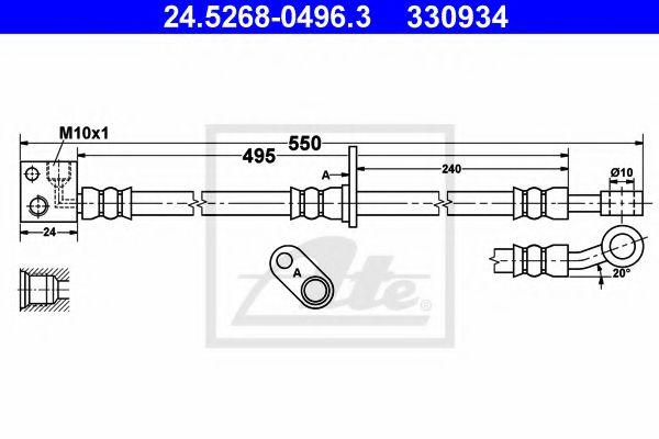 24526804963 ATE Brake Hose