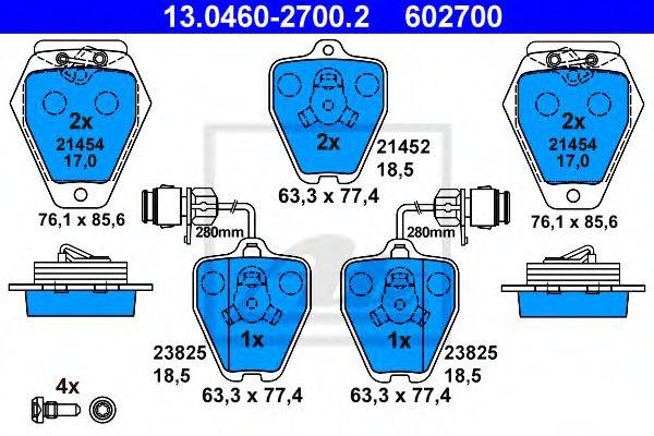 13046027002 ATE Brake Pad Set, disc brake