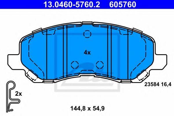 13.0460-5760.2 ATE Brake Pad Set, disc brake