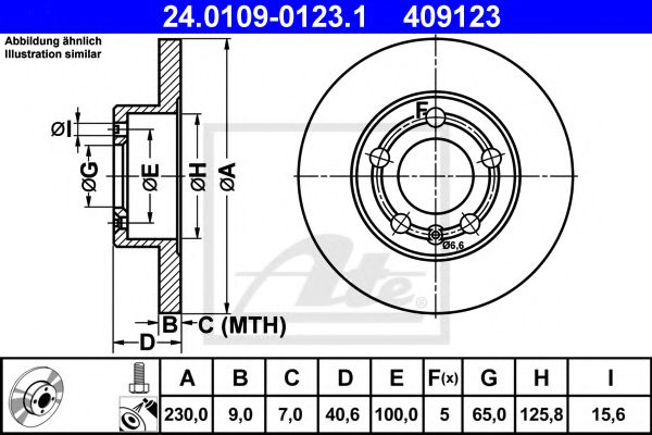 24.0109-0123.1 ATE Brake Disc