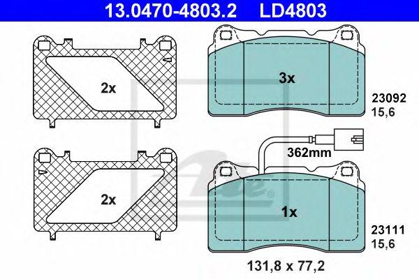 13047048032 ATE Brake Pad Set, disc brake