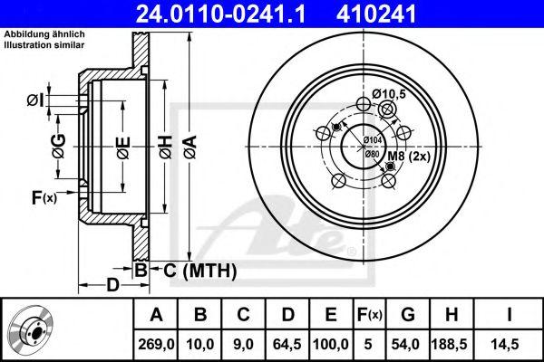 24.0110-0241.1 ATE Brake Disc