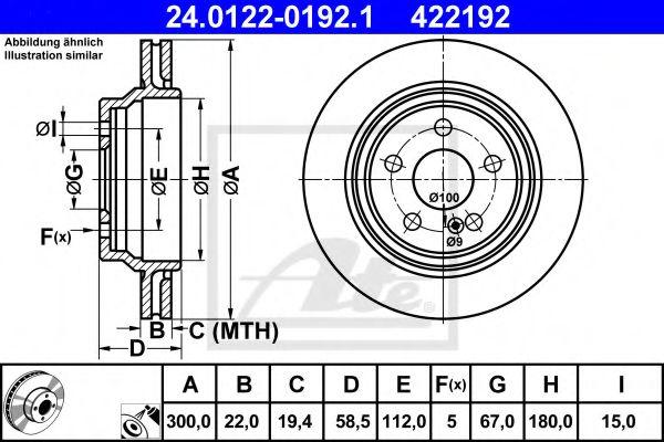 24.0122-0192.1 ATE Brake Disc