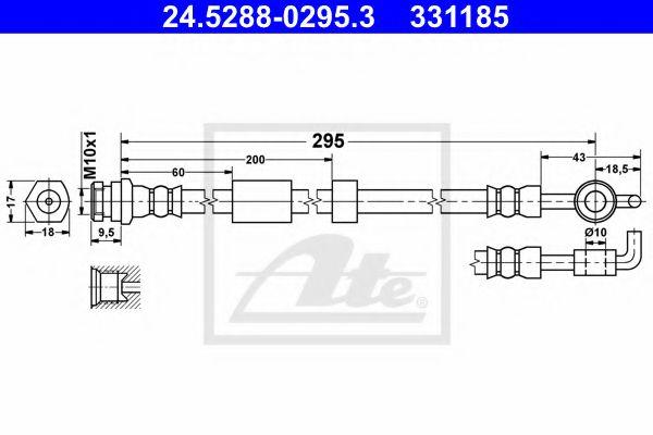 24528802953 ATE Brake Hose
