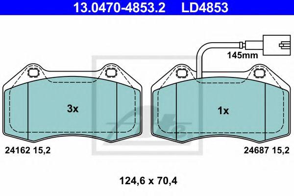 13047048532 ATE Brake Pad Set, disc brake