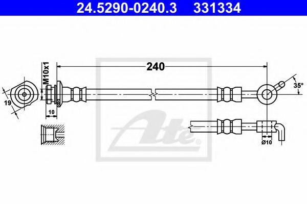 24529002403 ATE Brake Hose