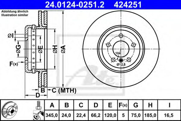 24012402512 ATE Brake Disc