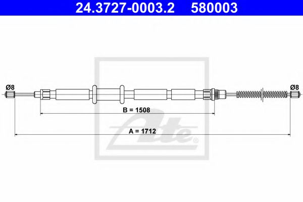 24.3727-0003.2 ATE Cable, parking brake