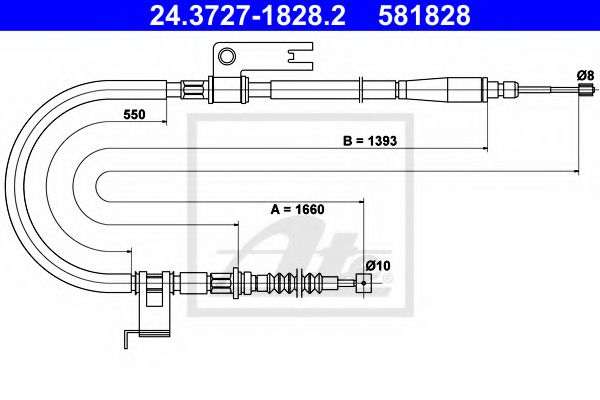 24.3727-1828.2 ATE Cable, parking brake