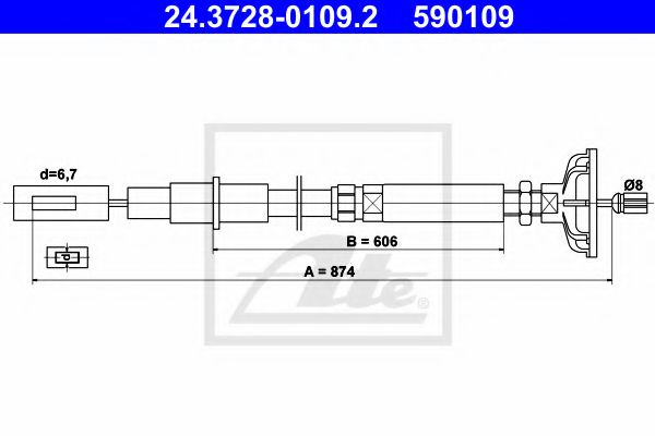 24372801092 ATE Clutch Cable