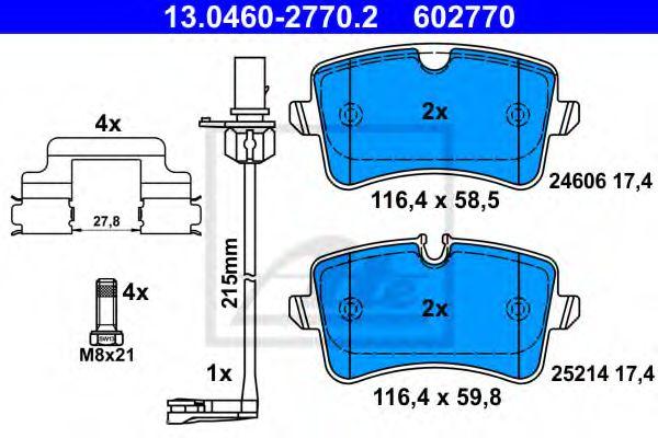 13.0460-2770.2 ATE Brake Pad Set, disc brake
