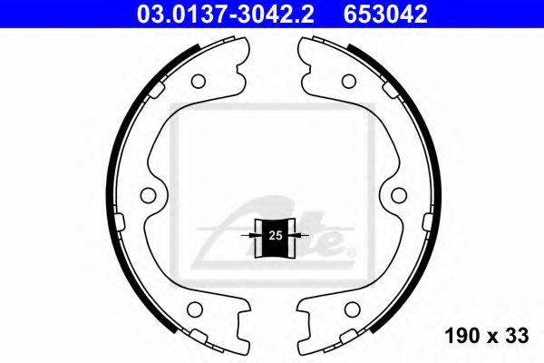 03 0137 3042 2 ATE Brake Shoe Set, parking brake