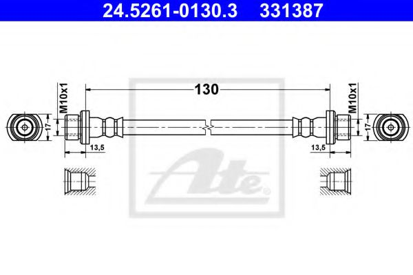 24.5261-0130.3 ATE Brake Hose