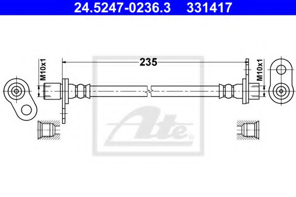 24.5247-0236.3 ATE Brake Hose