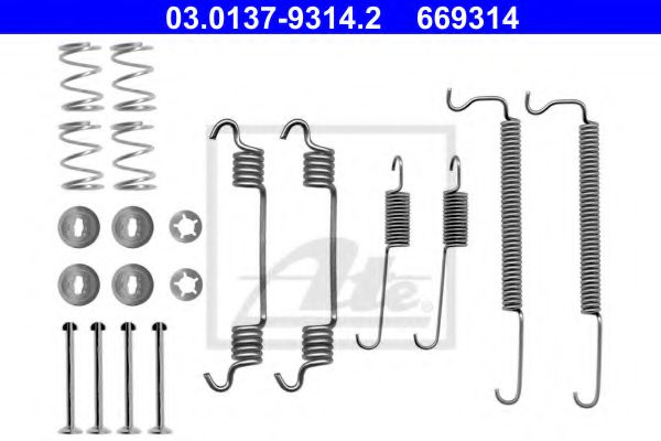 03.0137-9314.2 ATE Accessory Kit, brake shoes