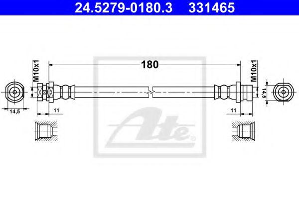 24.5279-0180.3 ATE Brake Hose
